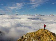Sea of clouds Clouds Landscape Alpine Panorama